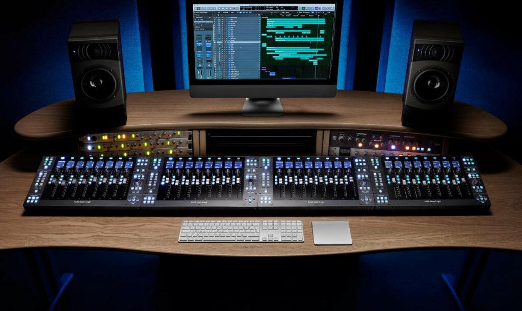 Miks audio z użyciem SSL UF8
