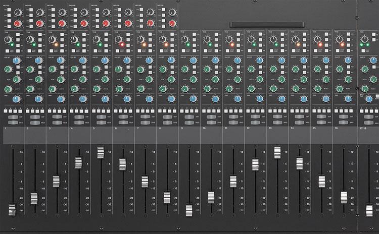 Widok Channel Strip SSL XL Desk